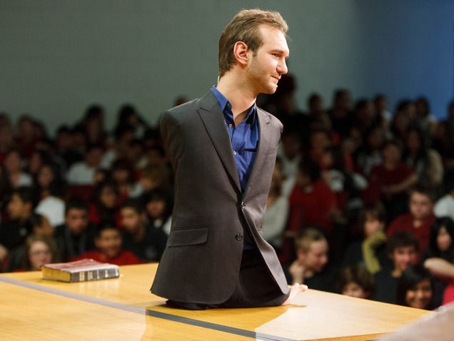Inspirational people Nick Vujicic